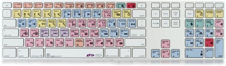 LogicKeyboard Advance Line Mac Keyboard - Avid Pro Tools image 1