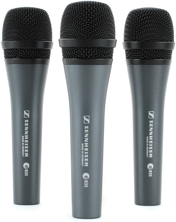 Sennheiser e835 Live Vocal Microphone - 3-pack image 1