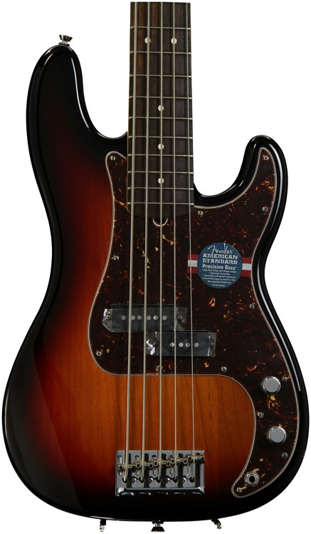 fender american standard precision bass v 3 color sunburst sweetwater. Black Bedroom Furniture Sets. Home Design Ideas