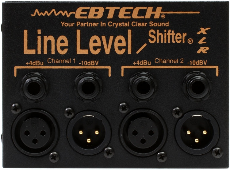 Ebtech LLS-2-XLR 2-channel Line Level Shifter with XLR image 1