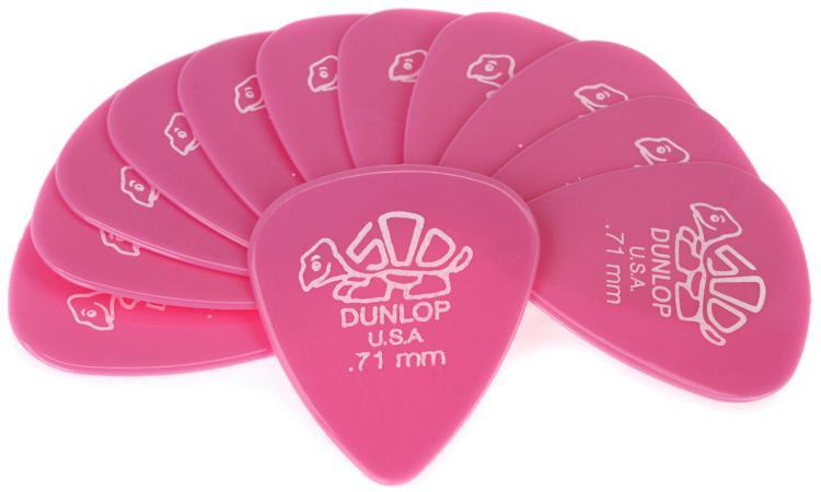 Dunlop 41P.71 Delrin 500 .71mm Pink Guitar Picks 12-Pack image 1