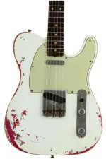 Fender Custom Shop '60s Telecaster Heavy Relic/Closet Classic Mix - Olympic White/Pink Paisley with Rosewood Fingerboard