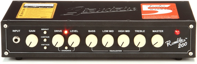 Fender Rumble 200 - 200-Watt Bass Head image 1