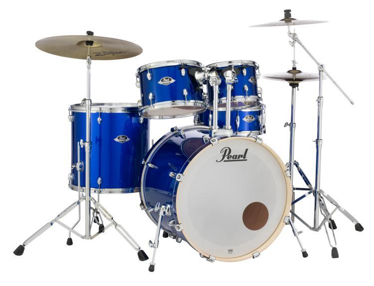 High Voltage Drummer : Pearl export exx piece drum set with cymbals hardware