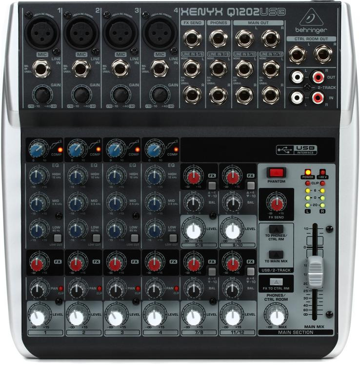 Behringer Xenyx Q1202USB Mixer and USB Audio Interface image 1