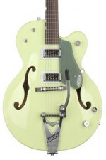Gretsch G6118T-60GE Vintage Select Anniversary - Smoke Green, Bigsby