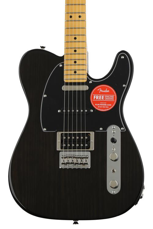 Fender Modern Player Telecaster Plus - Charcoal Transparent with Maple Fingerboard image 1
