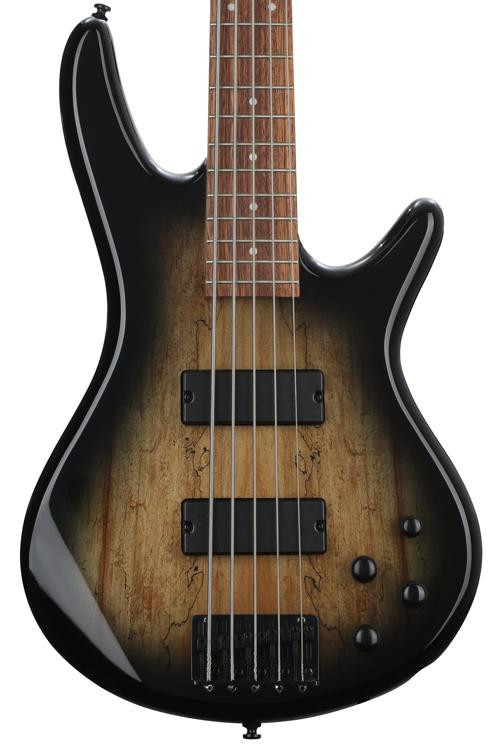 Ibanez GSR205SMNGT GIO - Spalted Maple Top Natural Grey Burst image 1
