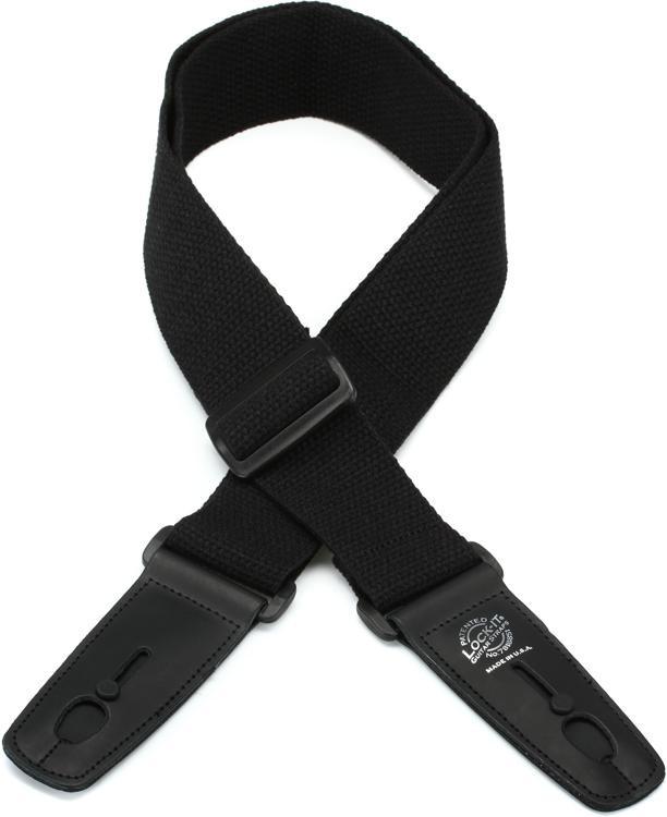 Lock-It Straps LIS 013 C2-BLK Guitar Strap - Black image 1