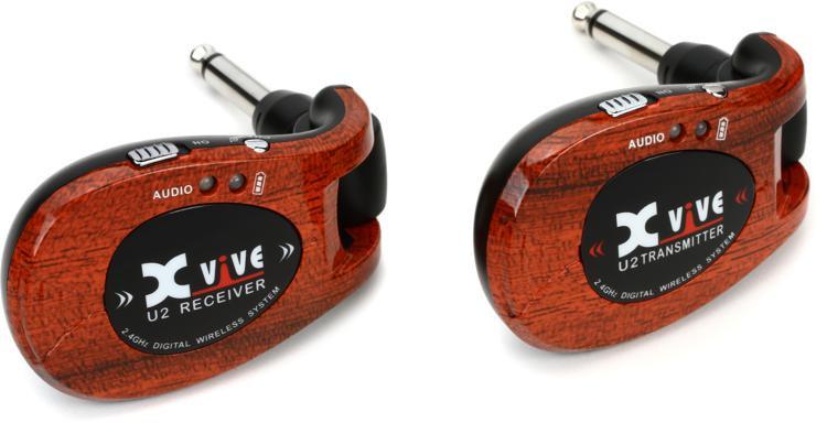 xvive audio u2 digital wireless guitar system wood finish sweetwater. Black Bedroom Furniture Sets. Home Design Ideas