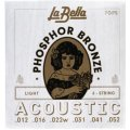 La Bella 7GPS Phosphor Bronze Acoustic Guitar Strings - Light