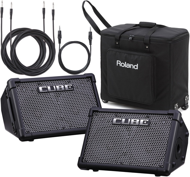 Roland CUBE Street EX PA Pack - Battery Powered Stereo PA image 1
