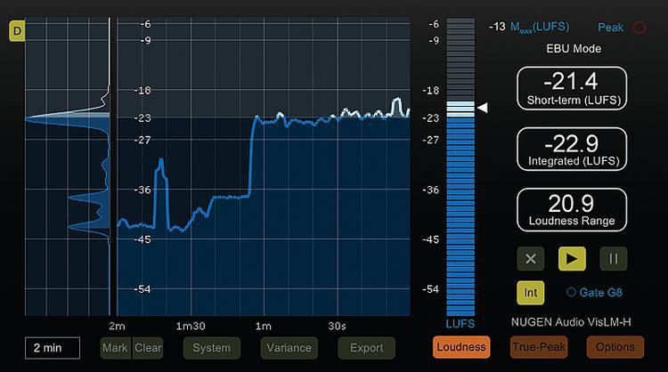 NUGEN Audio VisLM-H Loudness Meter with History image 1