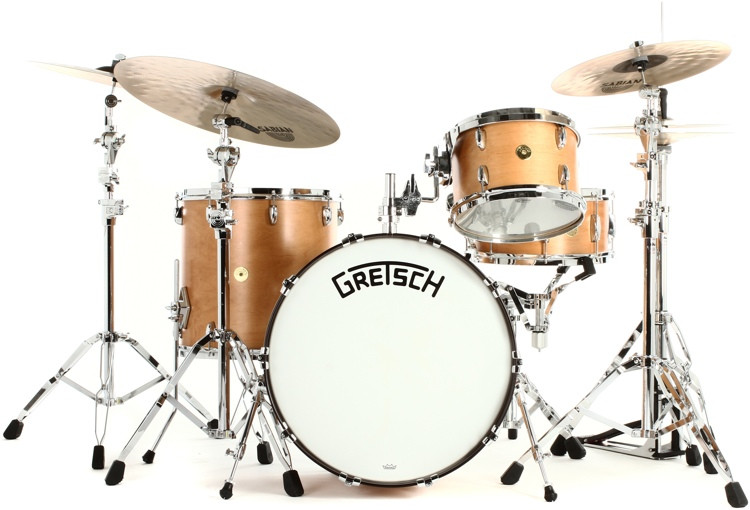 Gretsch Drums Broadkaster 4-piece Drum Set Satin Classic Maple image 1
