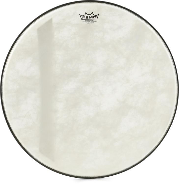 remo powerstroke 3 fiberskyn diplomat felt tone bass drumhead 22 sweetwater. Black Bedroom Furniture Sets. Home Design Ideas