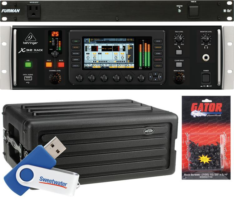 Behringer X32 Rack Digital Mixer Package with Rack Case image 1