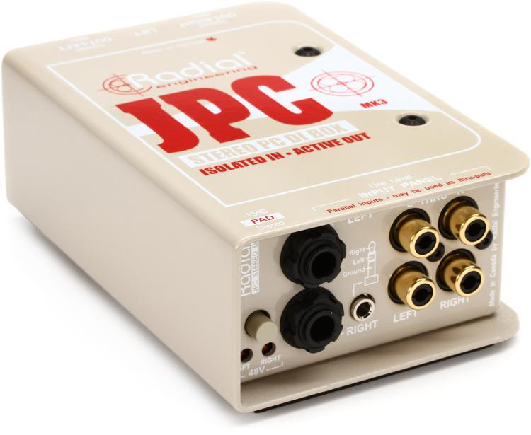 Radial JPC 2-channel Active Instrument Direct Box image 1