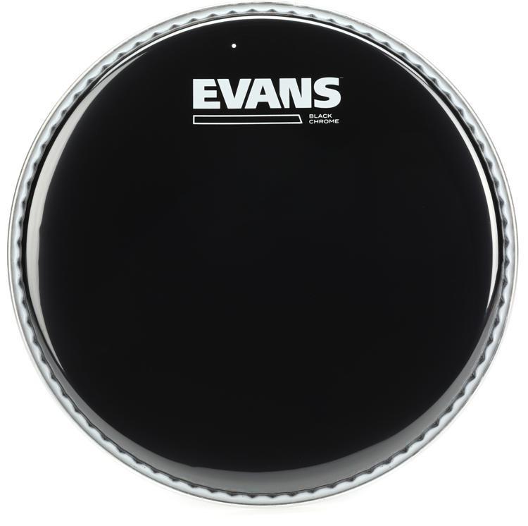 Evans TT08CHR Black Chrome Tom Batter Head - 8