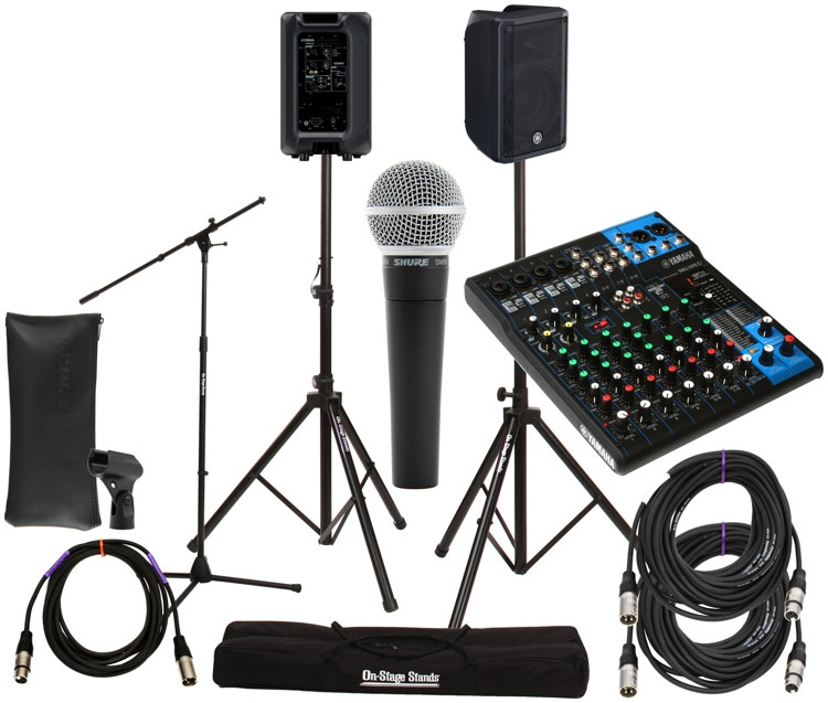 Yamaha mg10xu mixer with dbr10 speakers and accessories for Yamaha mg10xu review