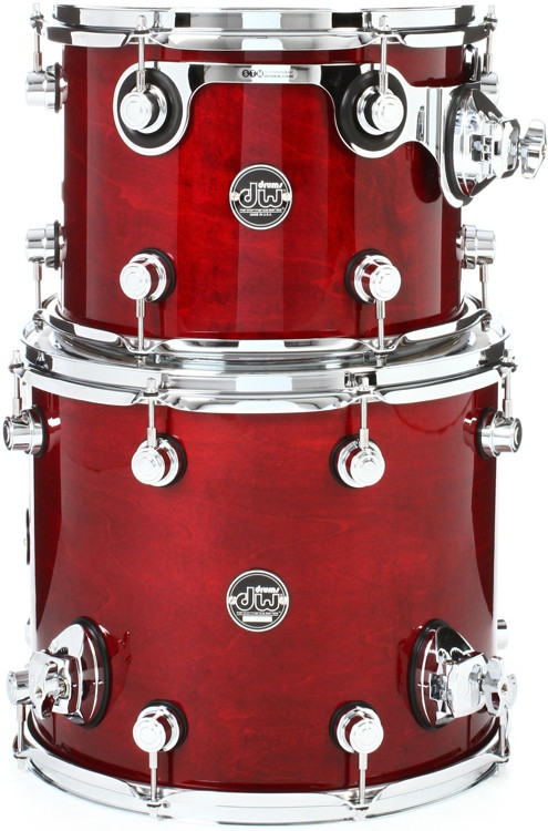 DW Performance Series 2-piece Bop Tom Pack - Cherry Stain Lacquer image 1