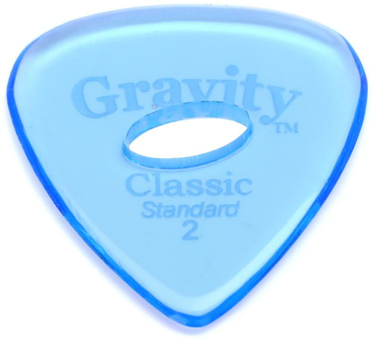 Gravity Picks Classic - Standard Size, 2mm, w/Elipse-hole Grip image 1