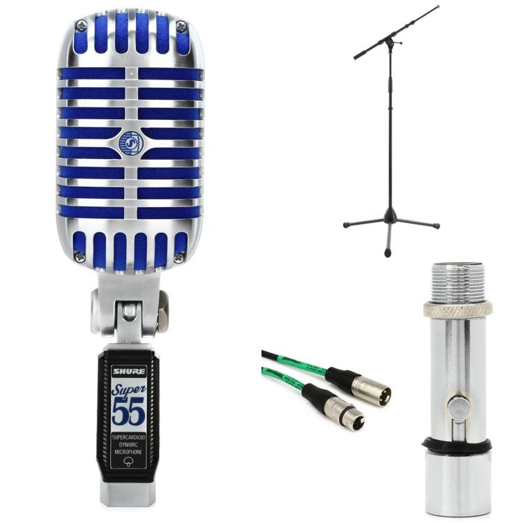 Shure Super 55 Microphone with Stand and Cable image 1