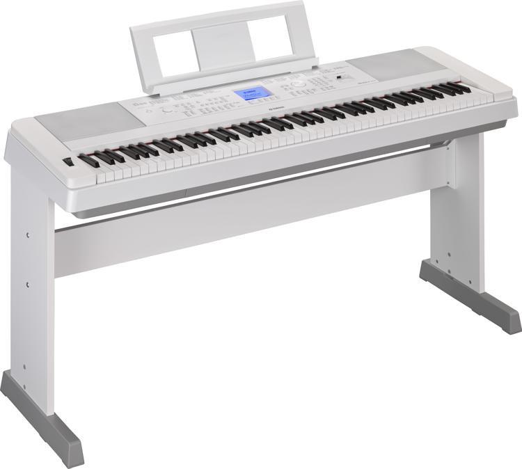 Yamaha DGX-660 88-key Arranger Piano with Stand - Spotlight White image 1