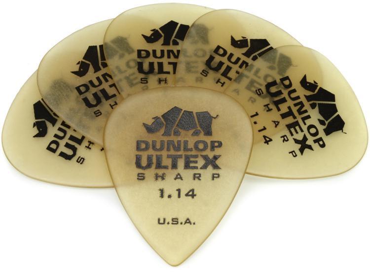 Dunlop 433P1.14 Ultex Sharp 1.14mm Guitar Picks 6-Pack image 1