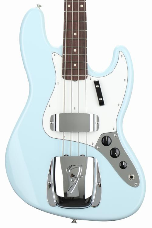 fender custom shop 1964 nos jazz bass sonic blue sweetwater. Black Bedroom Furniture Sets. Home Design Ideas