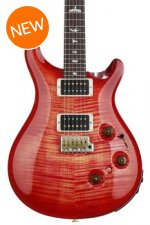 PRS Custom 24 Piezo 10-Top - Blood Orange with Pattern Thin Neck