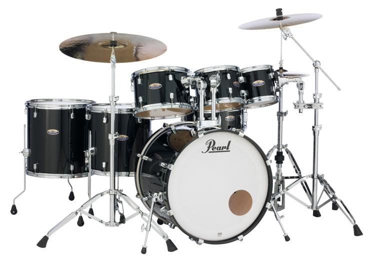 Pearl Decade Maple Shell Pack 7pc Black Ice Lacquer