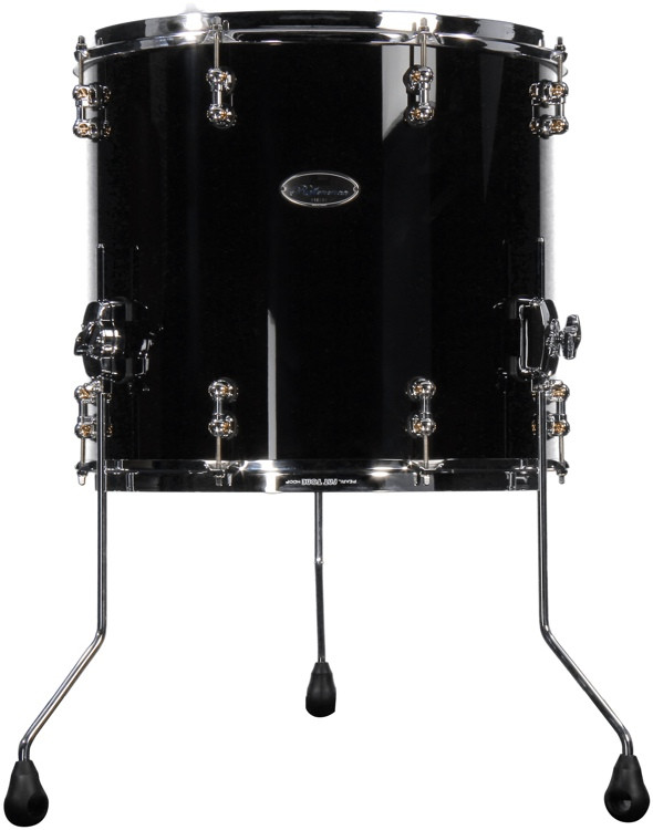pearl reference pure series floor tom 18 x 16 piano black sweetwater. Black Bedroom Furniture Sets. Home Design Ideas