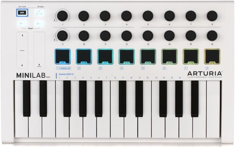 Arturia MiniLab MkII 25 Slim-key Controller image 1