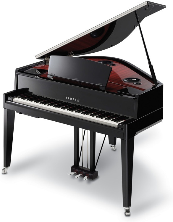 Yamaha avantgrand n3 digital grand piano sweetwater for How big is a grand piano