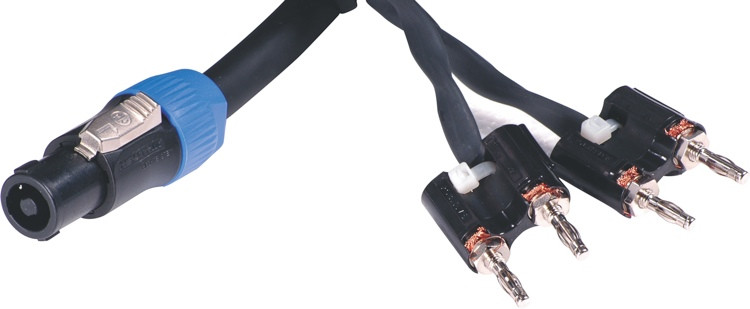 Pro Co S114BN-25 Banana(x2)-Speakon Speaker Cable - 25\' image 1