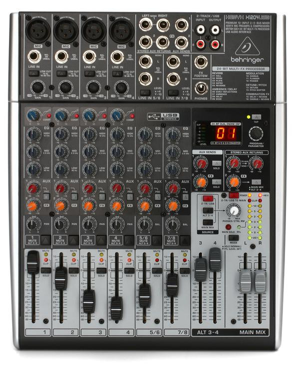 Behringer Xenyx X1204USB Mixer and USB Audio Interface with Effects image 1