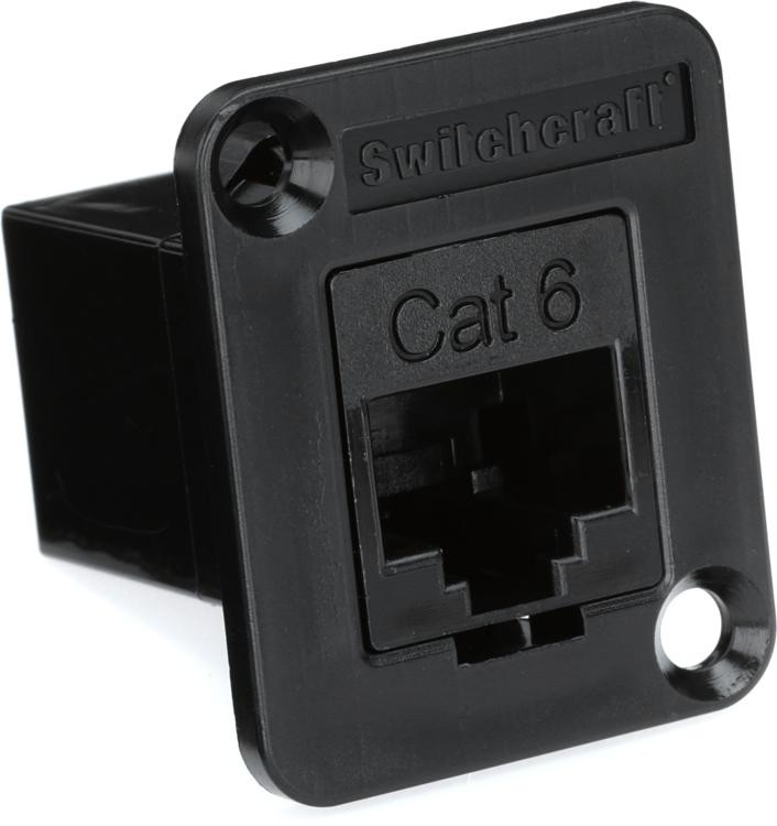 Switchcraft RJ45 CAT 6 Connector - RCA Panel-mount image 1
