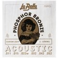 La Bella 7GPCL Phosphor Bronze Acoustic Guitar Strings - Custom Light