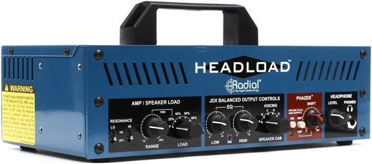 radial headload v4 speaker load box with cab simulator sweetwater. Black Bedroom Furniture Sets. Home Design Ideas