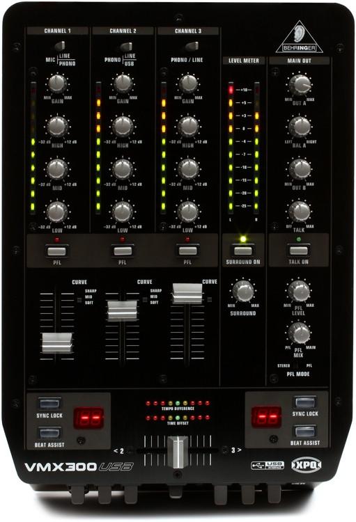 Behringer Pro Mixer VMX300USB 3-channel DJ Mixer image 1