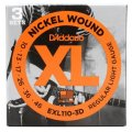D'Addario EXL110-3D Nickel Wound Light Electric Strings 3-Pk