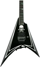ESP LTD ALEXI-600 GREENY - Black with Green Skull & Stripe