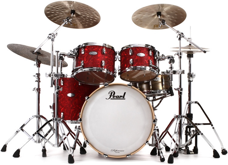 Pearl Music City Custom Reference Series Shell Pack 4-piece Classic - Cranberry Satin Swirl image 1