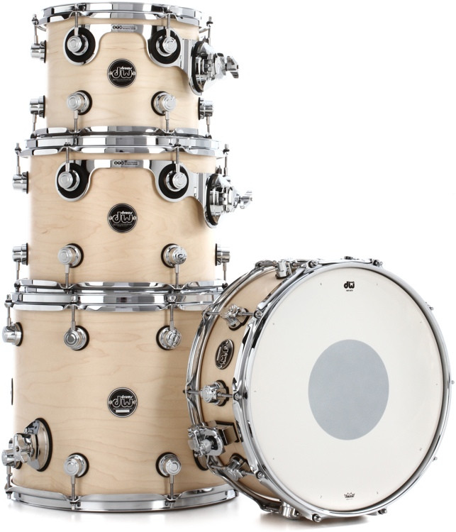 DW Performance Series 4-piece Tom/Snare Pack - Natural Satin Oil image 1