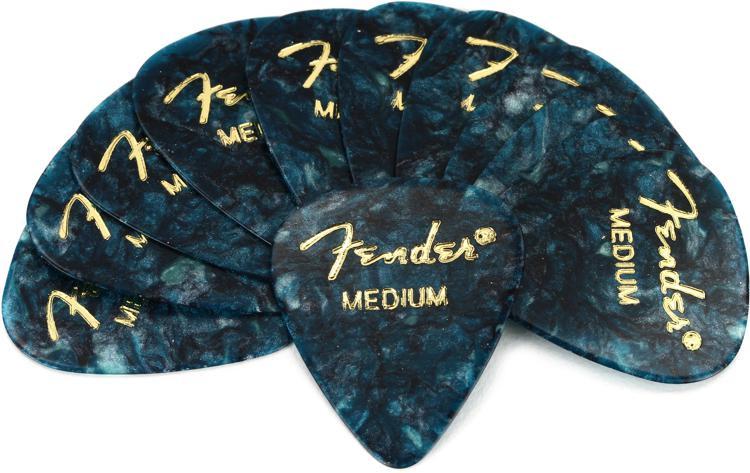 Fender 351 Premium Guitar Picks - Med Ocean Turquoise - 12-Pack image 1