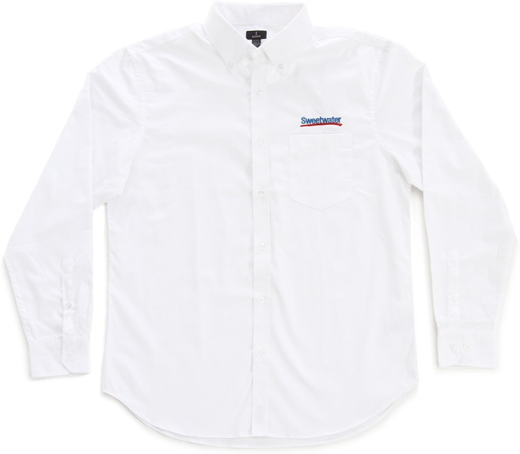 Sweetwater Men\'s Long-sleeve Oxford - White, XL image 1