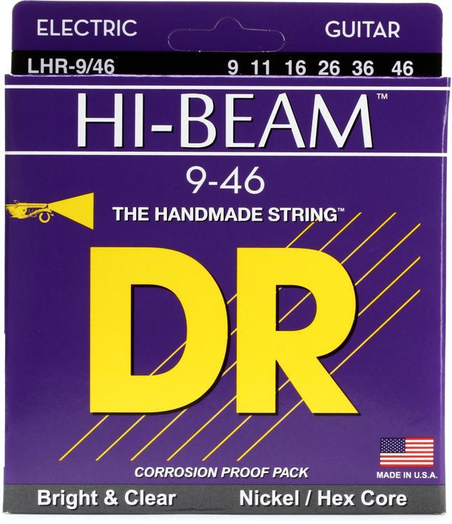 DR Strings LHR-9 Hi-Beam Nickel Plated Lite-Heavy Electric Strings image 1