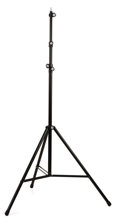 K&M 20811 Extra Tall Overhead Mic Stand - Black image 1