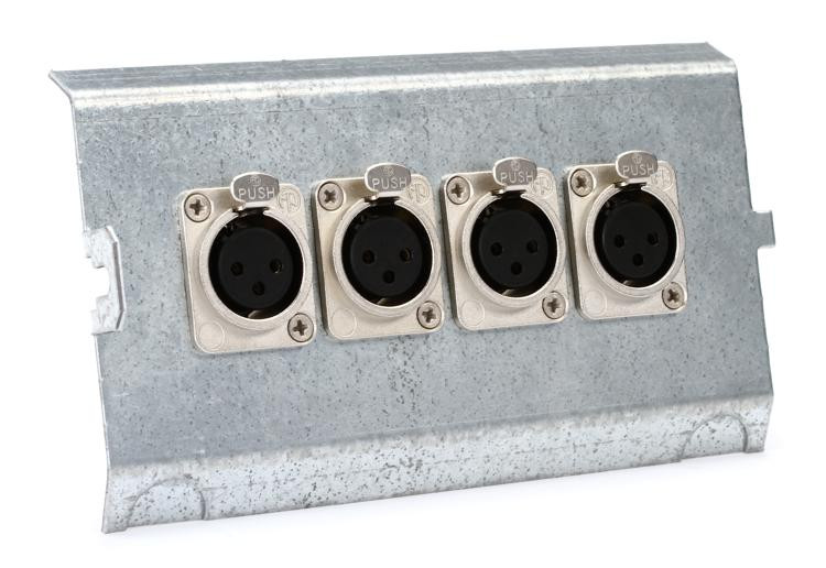 Pro Co FP4 Series Floor Plate - (4) XLR F image 1