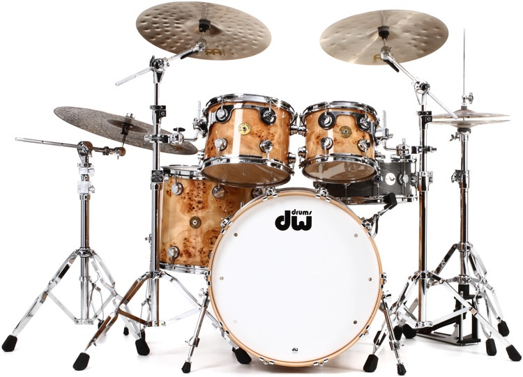 DW Collector\'s Series Jazz Exotic Shell Pack - 4-pc - Natural Mapa Burl image 1